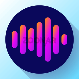 sound waves vector icon sound Icon Vector. sound icon.