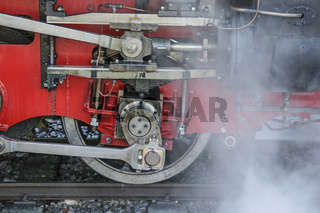 Detail einer Dampflokomotive