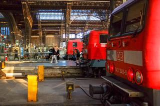 Regionalzüge im Leipziger Hauptbahnhof