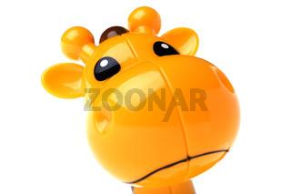 toy giraffe macro