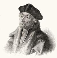 Erasmus Desiderius von Rotterdam, 1465 - 1536, a Dutch humanist, theologian, philosopher, scholar and author,