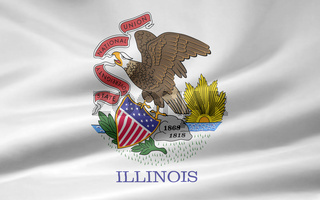 Flagge von Illinois - USA