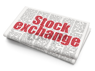 Finance concept: Stock Exchange on Newspaper background