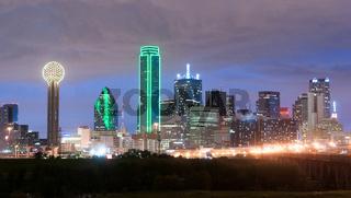 Downtown Dallas Skyline East Texas City Urban Landscape