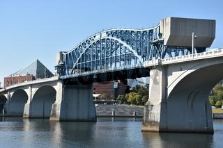 John Ross Bridge on Market Street in Chattanooga, Tennessee