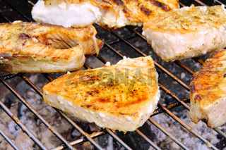 Grillen Fischsteak