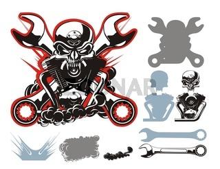motobikers simbol set