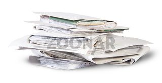 Pile of files in chaotic order rotated