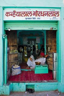 Lebensmittelgeschäft, Nordindien, Indien, Asien - food store, North India, India, Asia