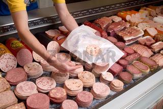 Supermarkt Wursttheke