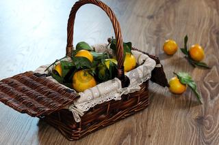 basket of mandarins new year