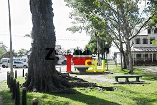 im Park  I Love Suriname