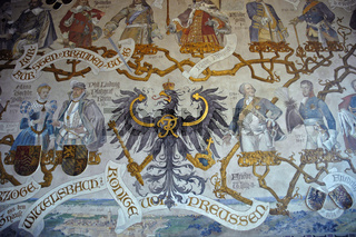 Historic wall painting in the ancestor hall
