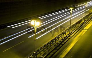 2010, berlin, deutschland, avus, stadtautobahn bei nacht