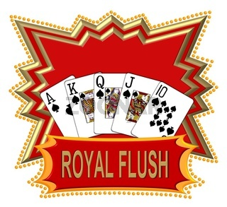 Poker Royal Flush Logo freigestellt