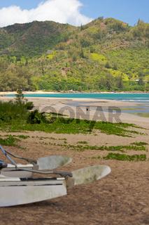 Catamaran Waiting on Beach