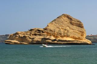 Barr Al Jissah Bucht am Golf von Oman bei Maskat