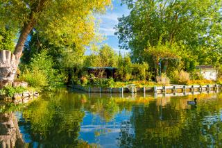 Hortillonnages floating gardens amiens france in september