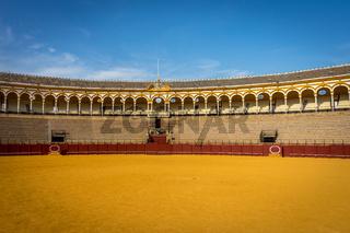 The bull fighting ring at Seville, Spain, Europe