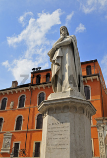 Dante-Denkmal, Verona, Italien Italy