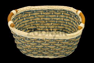 Empty wooden basket