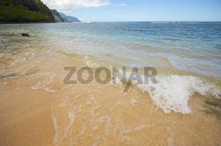 Crashing Wave on the Na Pali Shoreline