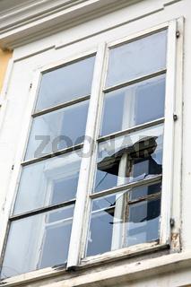 Kappute Fensterscheibe