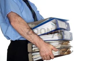 überarbeiteter Büroangestellter