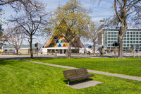 Latimer Square and Cardboard Cathedral, Christchurch NZ