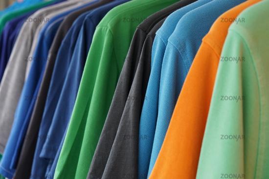multicolored polo shirts