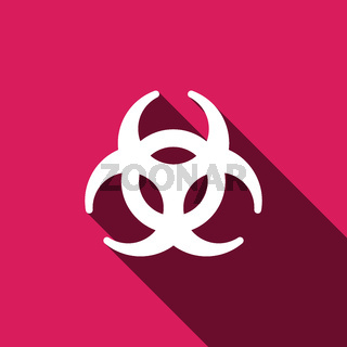 Biohazard sign icon. Danger symbo