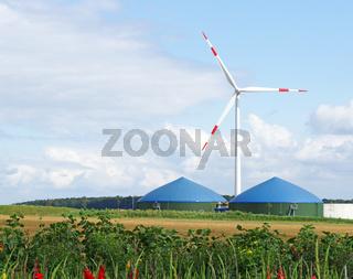 Alternative Energien - Biogas  Windenergie