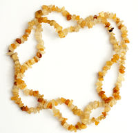 Yellow jade chip bead necklace