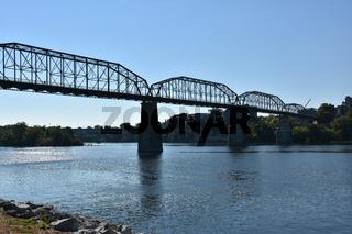 Walnut Street Bridge in Chattanooga, Tennessee