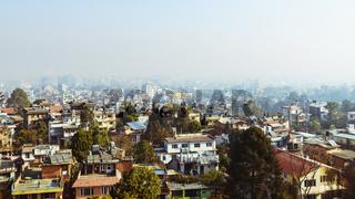 View of Patan and Kathmandu in Nepal