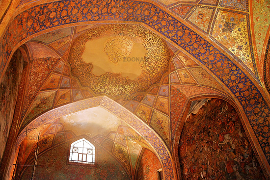 Interior of one of the mosques in Esfahan