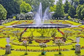 Botanischer Garten, Springbrunnen, Flora, Köln, Nordrhein-Westfalen, Deutschland, Europa