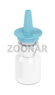 Nasal spray on white
