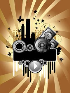 Music Grunge Background