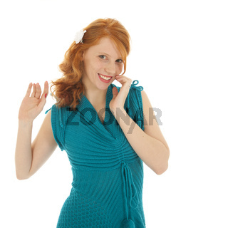Portrait red haired woman