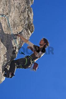 Am Überhang / climbing
