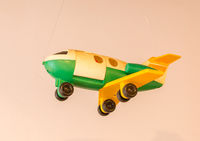 Childrens toy from the 80s - Plastic aircraft