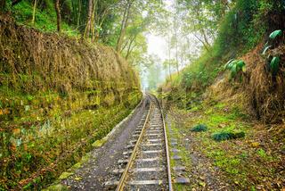 Steam narrow-gauge railway from Yuejin to Bagou.