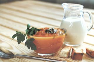 Delicious cream - pumpkin soup