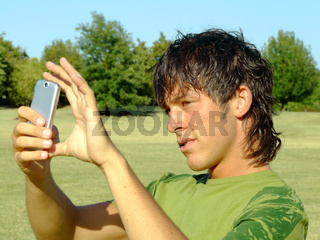 Young man with mobile