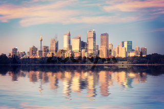 Sydney Skyline Sunrise Australia