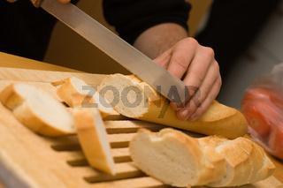 Baguette schneiden