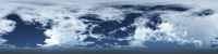 360 degree seamless panorama of clouds on blue sky