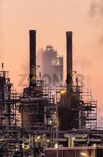 Industrial smokestacks, Port of Rotterdam