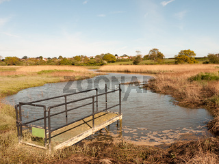 a sluice outside in the country on a river